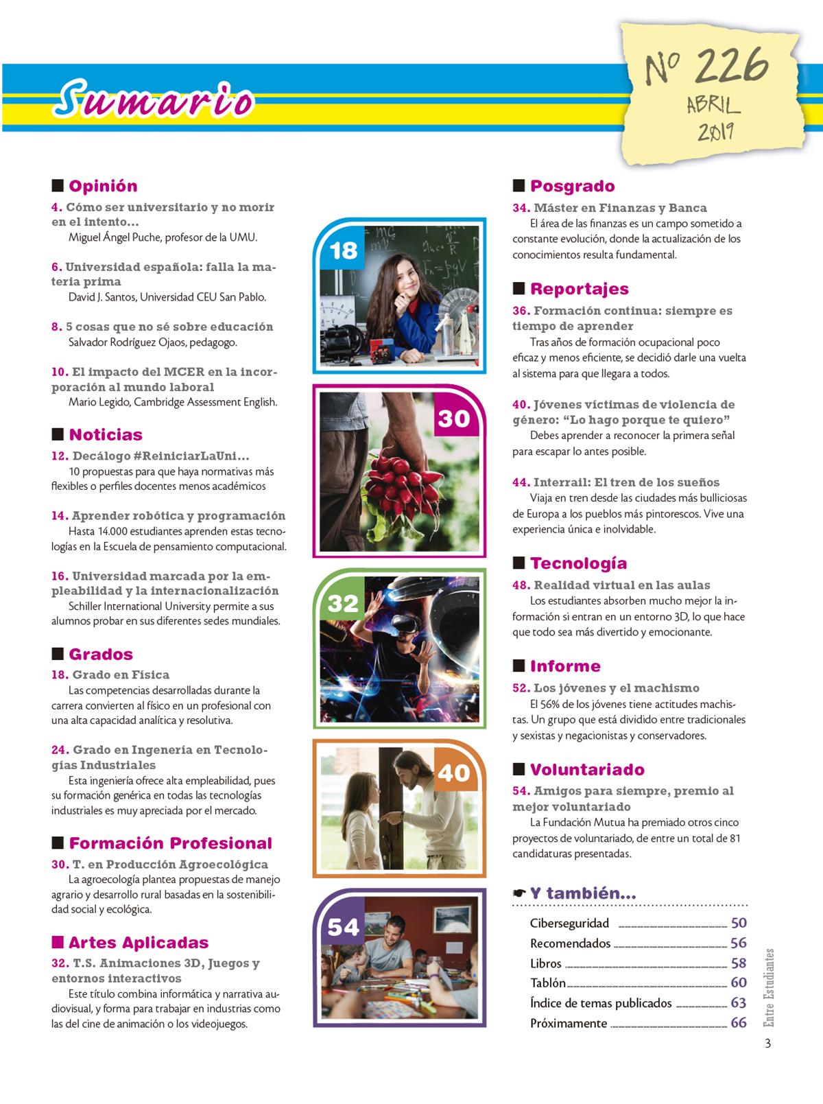 Revista Entre Estudiantes Nº 226