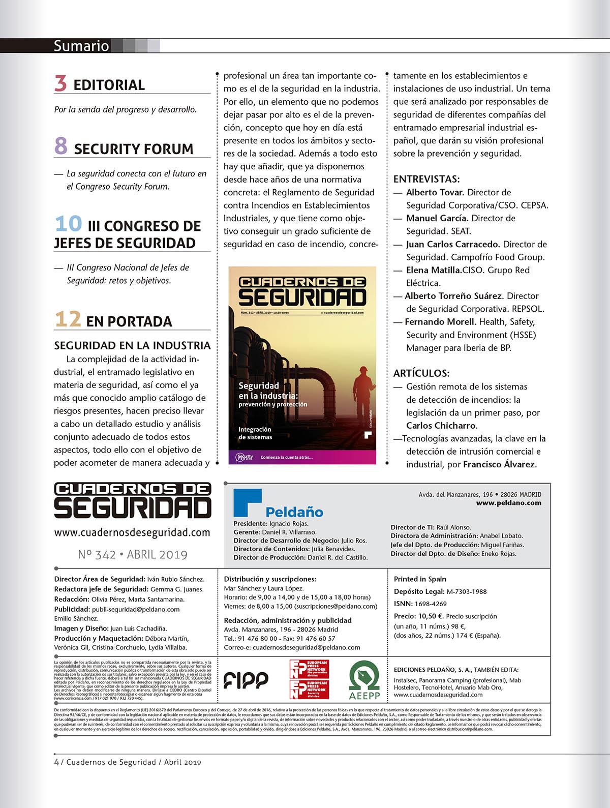 Cuadernos de Seguridad Nº 342