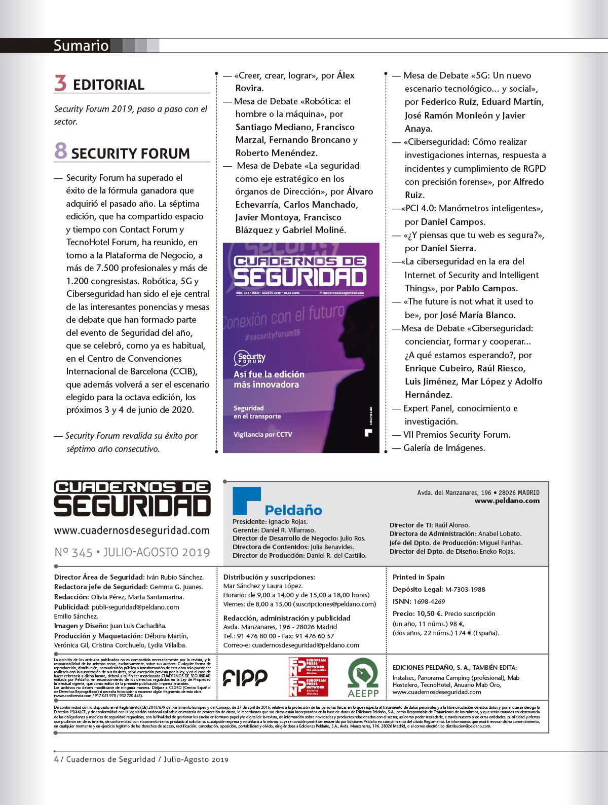 Cuadernos de Seguridad Nº 345