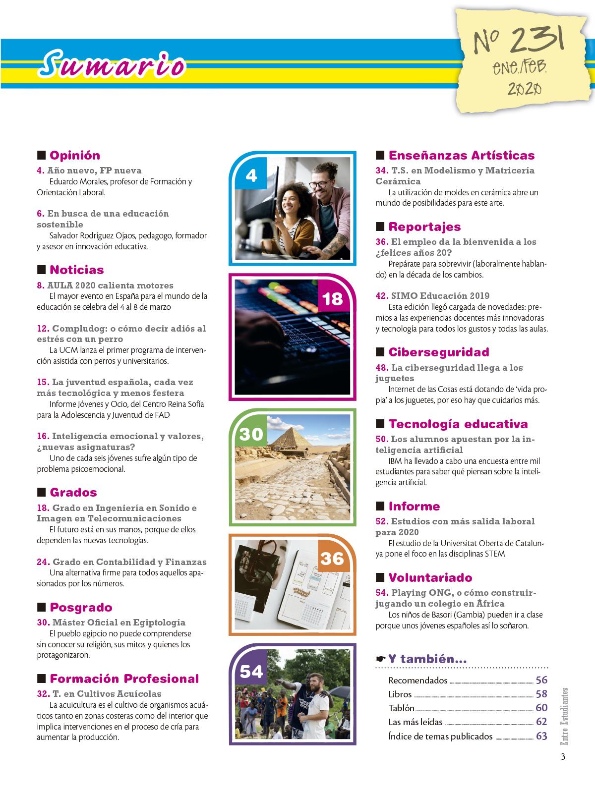 Revista Entre Estudiantes Nº 231