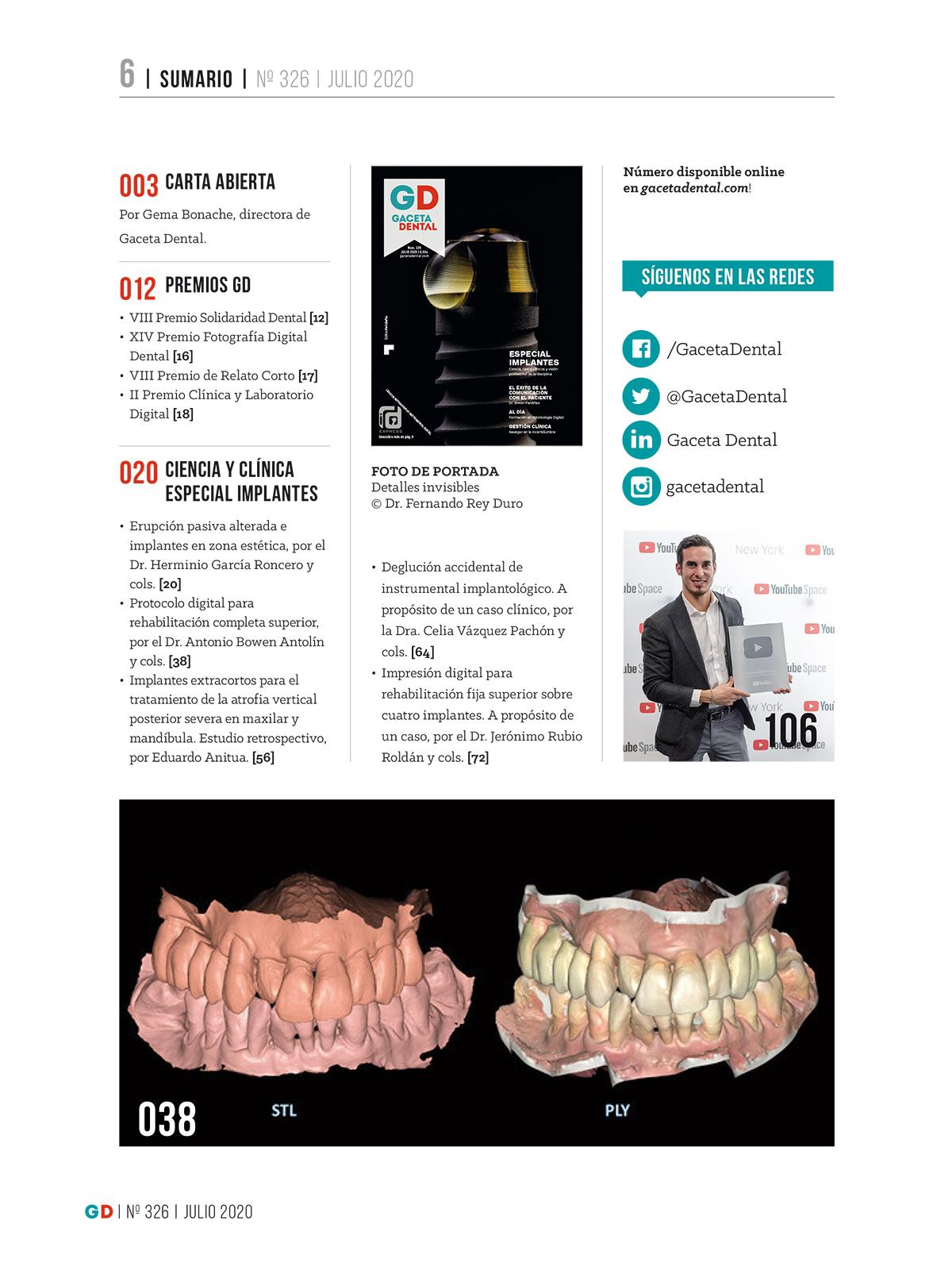 Gaceta Dental Nº 326